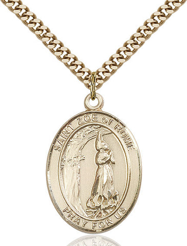 St. Zoe Of Rome Gold Filled 1""