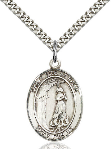 St. Zoe Of Rome Sterling Silver 1""