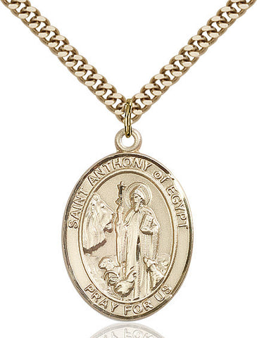 St. Anthony Of Egypt Gold Filled 1""