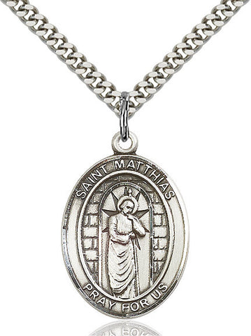 St. Matthias The Apostle Sterling Silver 1""