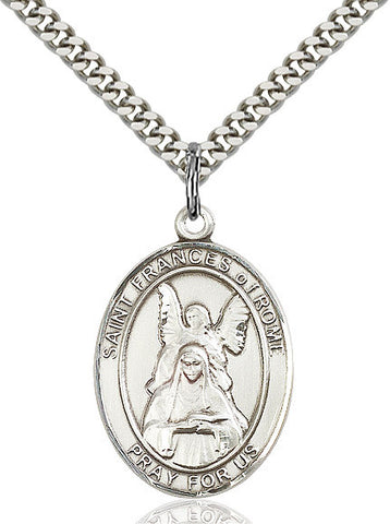 St. Frances Of Rome Sterling Silver 1""