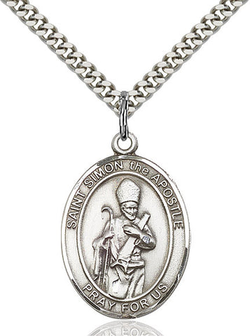 St. Simon Sterling Silver 1""