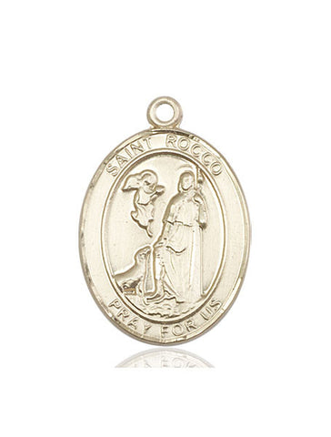 St. Rocco 14kt Gold 1""