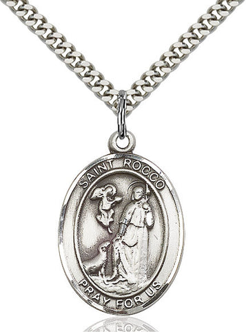 St. Rocco Sterling Silver 1""