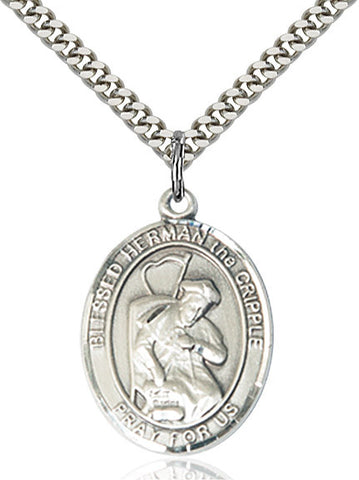 Blessed Herman The Cripple Sterling Silver 1""