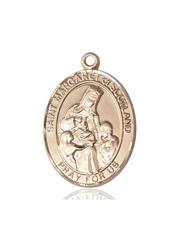 St. Margaret Of Scotland 14 Kt Gold 1""