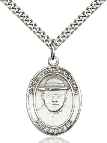 St. Damien Of Molokai Sterling Silver 1""