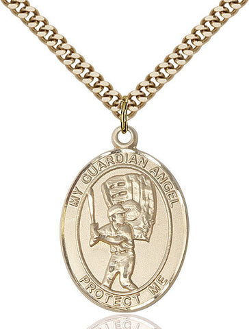 Guardian Angel / Baseball Pendant  14kt Gold Filled 1""