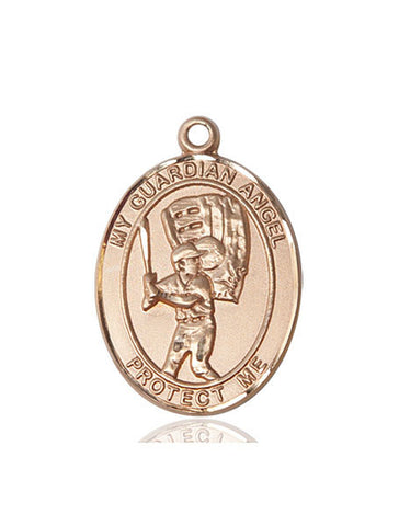 "Guardian Angel / Baseball  14kt Gold 1"" - Discount Catholic Store"