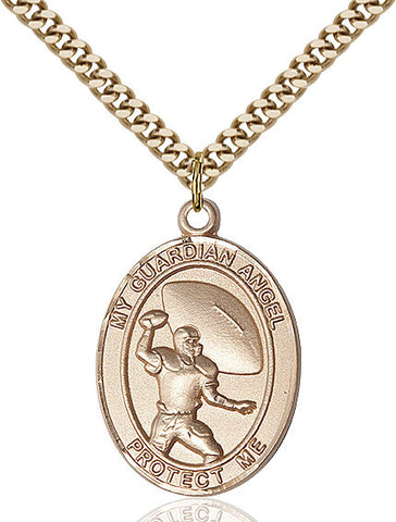 Guardian Angel / Basketball Pendant  14kt Gold Filled 1""