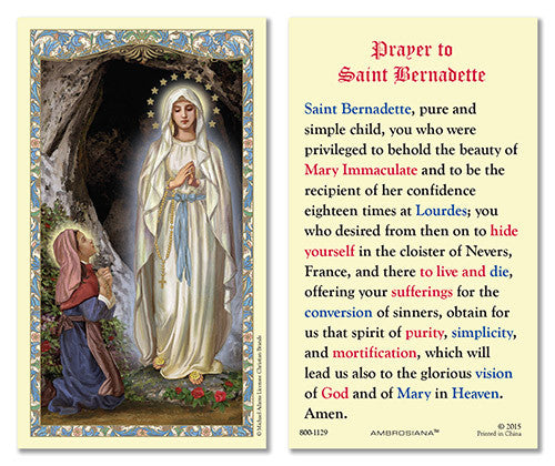 St. Bernadette & Our Lady of Lourdes – Discount Catholic Store