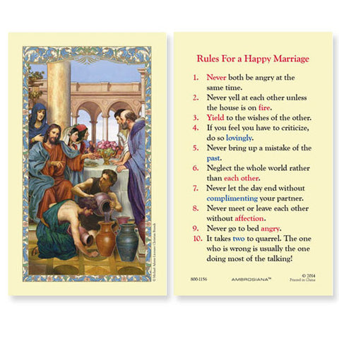 Wedding at Cana - Rules for a Happy Marriage