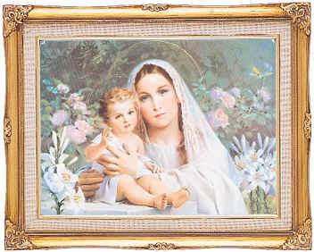 Framed Art - Madonna of the Lillies