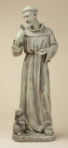 St. Francis with Animals Outdoor Statue 24 Inches