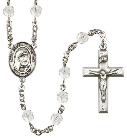 St. Mother Teresa Crystal Rosary - Discount Catholic Store