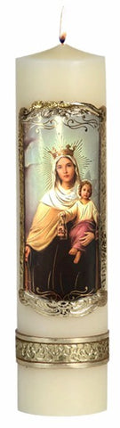 Our Lady of Mount Carmel Candle