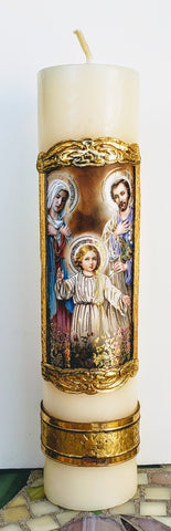Holy Family Candle - pack of 3