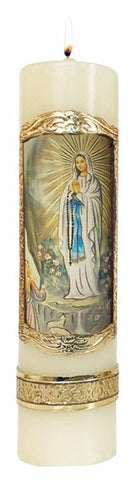 Our Lady of Lourdes Candle