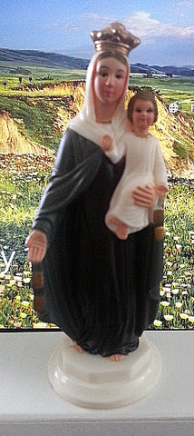Our Lady of Mount Carmel Car Statue