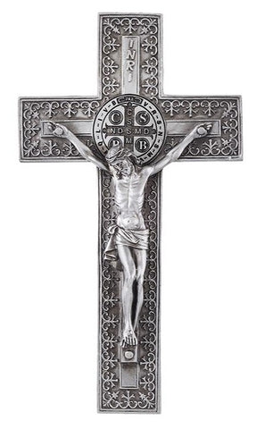 St. Benedict Wall Crucifix 8""