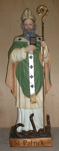 St. Patrick Colored Indoor Statue 60 Inches