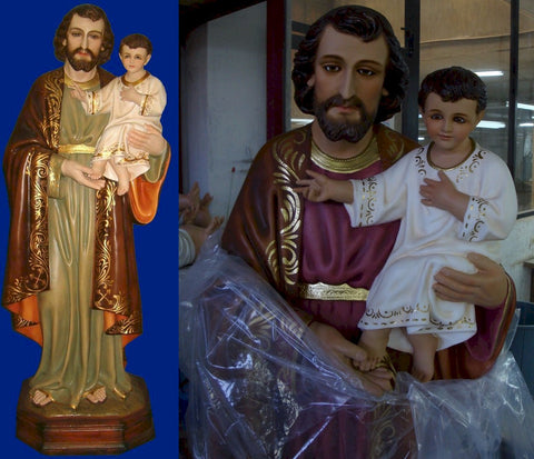 St. Joseph and Child 54 Inch Statue