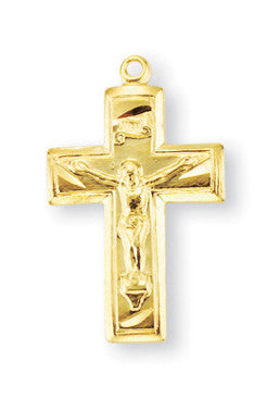 Gold Over Sterling Wide Crucifix