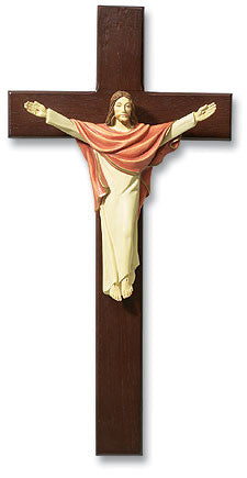 "13"" Risen Christ Crucifix - Discount Catholic Store"
