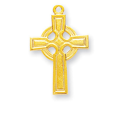 Gold Over Sterling Celtic Cross