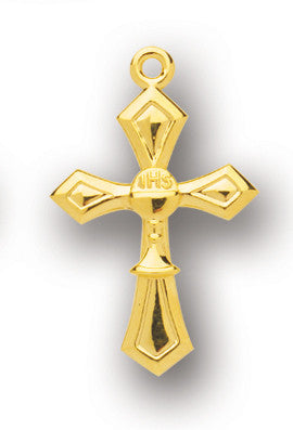 Gold Over Sterling Cross with Chalice