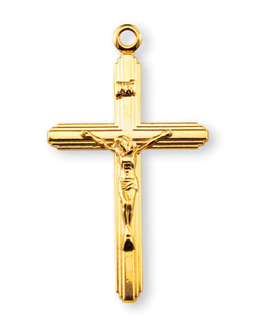 Gold Over Sterling Inlayed Crucifix