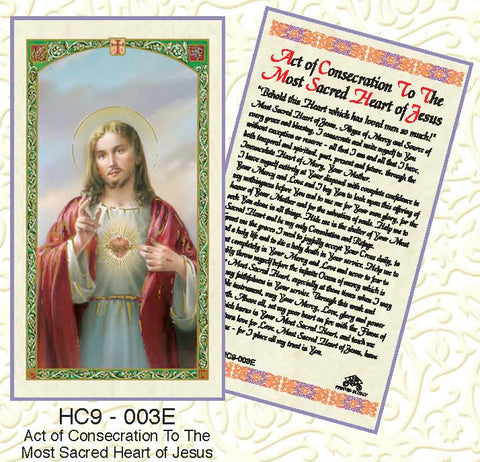 Act of Consecration to the Most Sacred Heart of Jesus - Discount Catholic Store