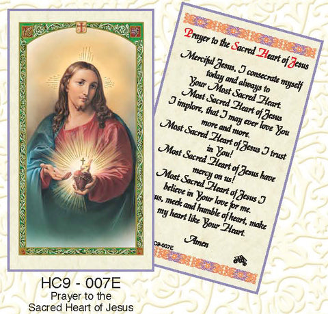 Prayer to the Sacred Heart of Jesus - Discount Catholic Store