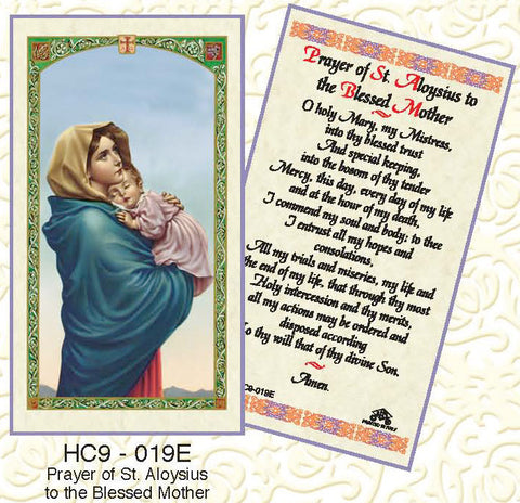 Prayer of St Aloysius to the Blessed Mother - Discount Catholic Store