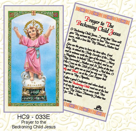 Prayer of the Beckoning Child Jesus - Discount Catholic Store