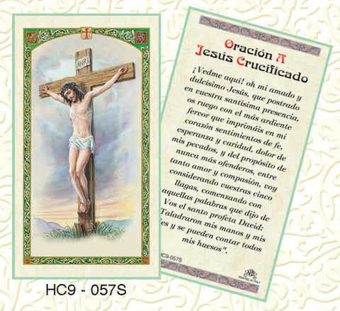 Oracion A Jesus Crucificado - Discount Catholic Store
