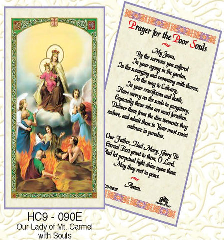 Our Lady of Mt Carmel - Prayer for the Poor Souls - Discount Catholic Store