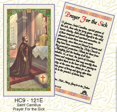 St. Camillus Prayer to the Sick - Discount Catholic Store