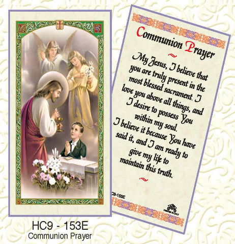 Communion Prayer - Boy Kneeling - Discount Catholic Store