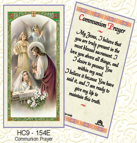 Communion Prayer - Girl Kneeling - Discount Catholic Store