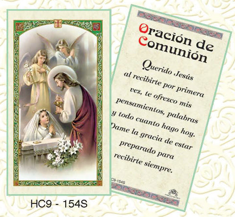 Oracion de Comunion-Girl Kneeling - Discount Catholic Store