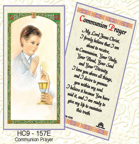 Communion Prayer - Boy Praying - Discount Catholic Store