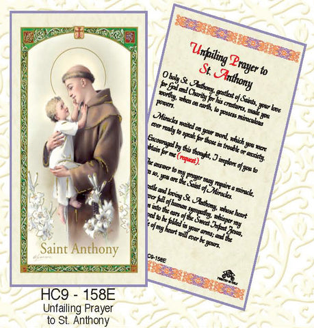 St. Anthony - Unfailing Prayer - Discount Catholic Store