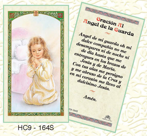 Oracion Al Angel de la Guarda - Girl - Discount Catholic Store