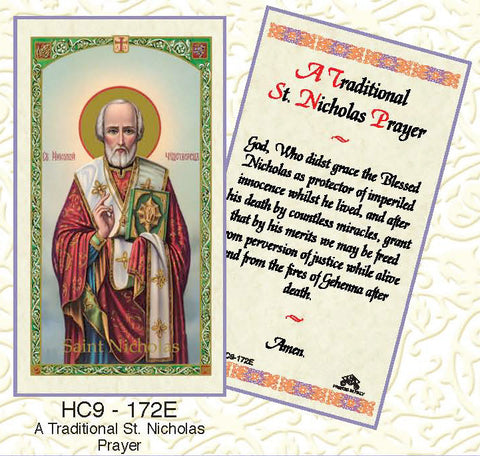 St. Nicholas - Traditional Prayer - Discount Catholic Store