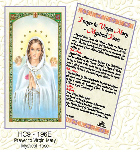 Prayer to Virgin Mary Mystical Rose - Discount Catholic Store