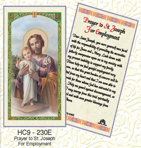 Prayer to St. Joseph for Employment - Discount Catholic Store