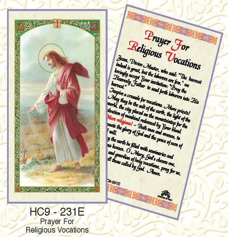 Prayer for Religious Vocations - Discount Catholic Store