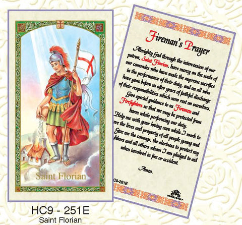 St. Florian - Fireman's Prayer - Discount Catholic Store