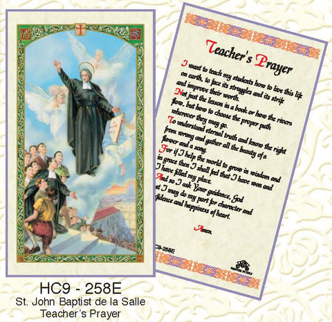 St. John the Baptist De La Salle Teacher's Prayer - Discount Catholic Store